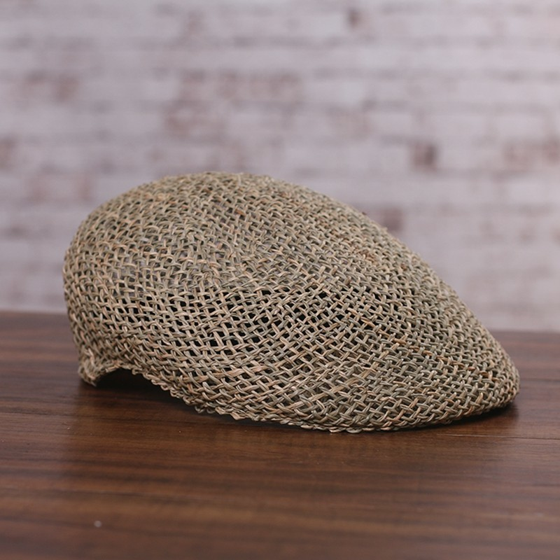 Beret-Caps Newsboy-Cap Sun-Hat Fitted Male Women Summer Casual Straw Cool Outdoors Natural