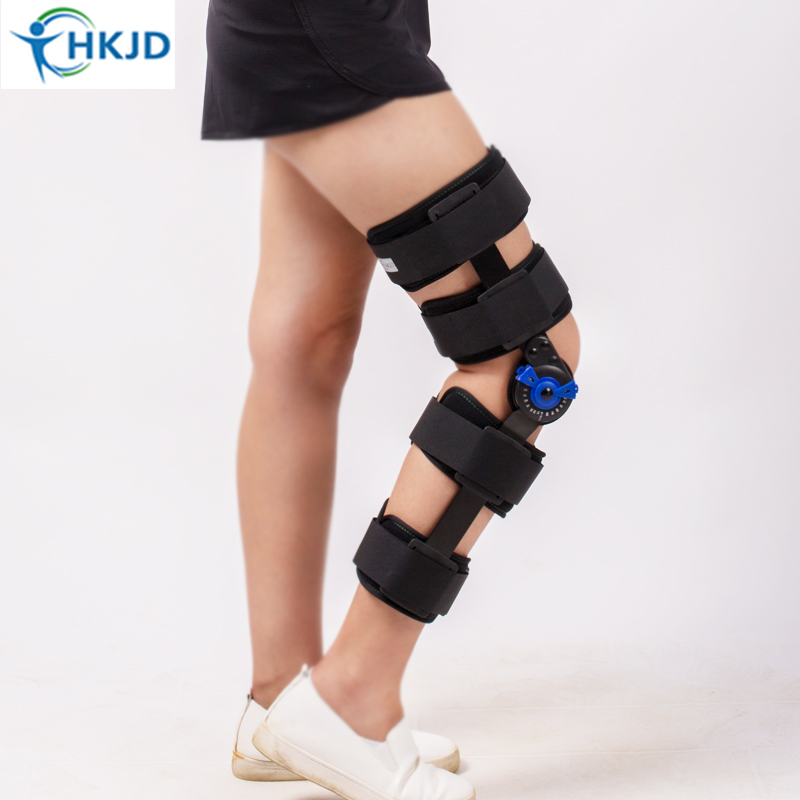 Medical Orthopedic Hinged Knee Brace Support Adjustable Splint Stabilizer Wrap Sprain Hemiplegia Flexion Extension