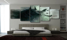 5 panel HD Printed Wolf Poster