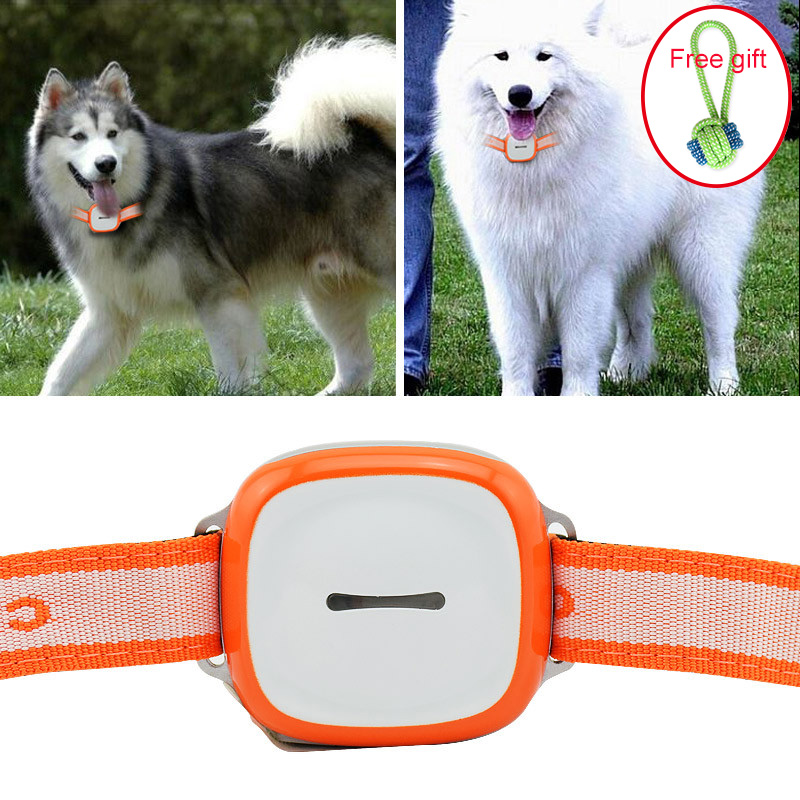 Mini Cat Dog Pet GPS Tracker Waterproof 2160 Hours Standby GSM GPRS Tracking Locator With SOS