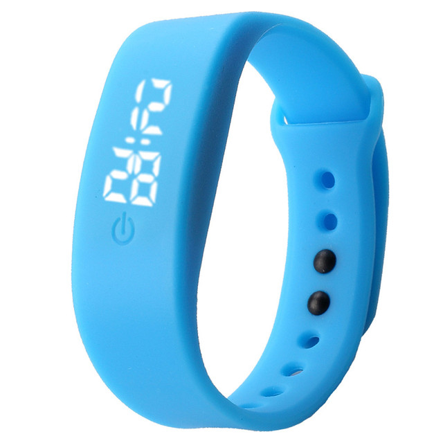 Rubber LED Watch Date Sports Bracelet Digital Wrist Womens Mens Watch Fashion