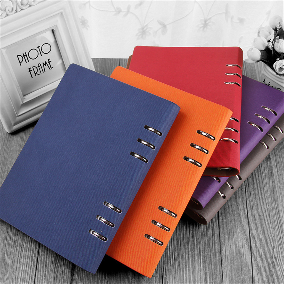 A5 Dokibook Spiral Notebook Leather Cover Organizer Writing Pads LOGO Customized Notebooks And Agenda Planner Journal Book 2016 new arrive a5 a6 pu leather planner snap notebook with notebooks writing pads office
