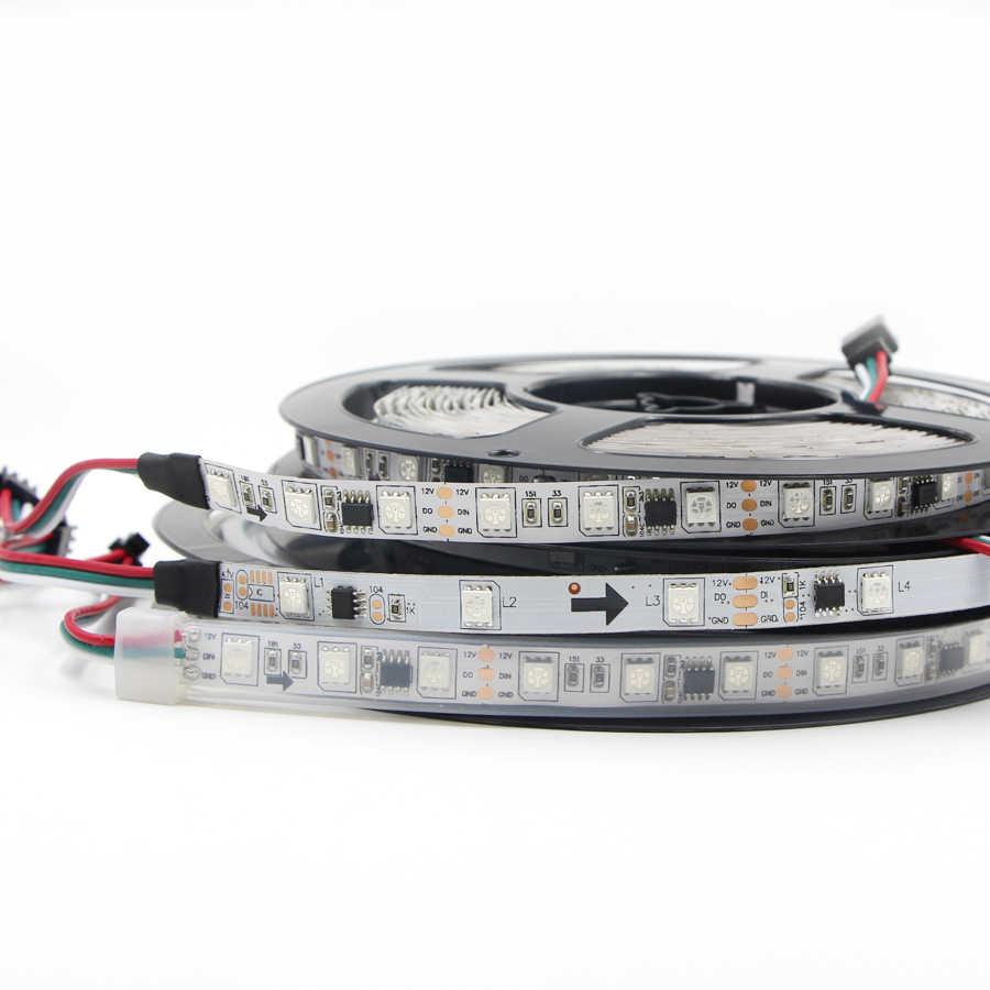 1 m/3 m/5 m 30/60 diod LED/m w pełnym kolorze WS2811 taśmy LED światła dc 12 V wodoodporny adresowalnych RGB led inteligentny pikseli magia taśma LED RGB lampa