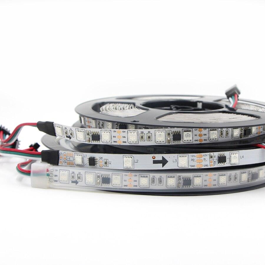 Led-streifen 1 Mt/3 Mt/5 Mt 30/60 Leds/m Volle Farbe Ws2811 Led Streifen Licht Dc 12 V Wasserdichte Adressierbare Rgb Smart Pixel Magie Rgb Led Band Lampe Licht & Beleuchtung