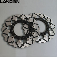 2PCS Motorcycle Accessories Front Floating Brake Disc Rotor For YAMAHA YZF R1 2007 2012 YZF R6