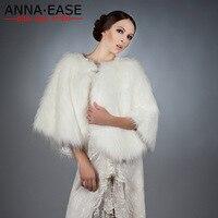 Faux Fox Fur Poncho Cape White Fur Vest Women Synthetic Fur Coat Scarf Fur Shawl for Wedding Dress Christmas Formal Party Dress