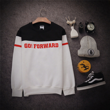 2015 New Winter Funny Crewneck Pullover Stitching Digital Men's Sweatshirt Tide Brand Coat Male Korean Baseball Uniform Jacket