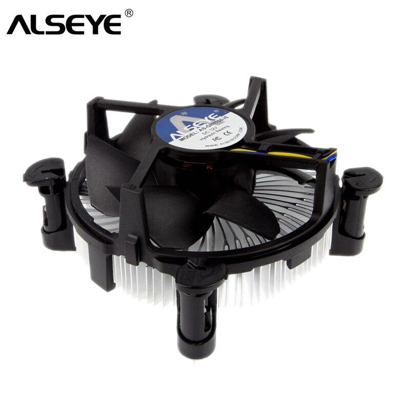 ALSEYE CPU Cooler 90mm ventilador de la CPU con disipador de calor radiador TDP 85 W refrigerador para LGA 1155/1151 /1150/i3/i5 con grasa térmica