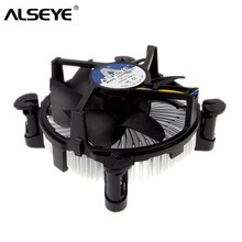 ALSEYE CPU Cooler 90mm CPU Fan with Heat Sink Radiator TDP 85W Cooler for LGA 1155/1151/1150 / i3/i5 with Thermal Grease(China)