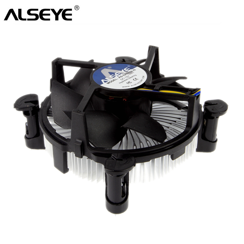 ALSEYE CPU Cooler 90mm CPU Fan With Heat Sink Radiator TDP 85W Cooler For LGA 1155/1151/1150 / I3/i5 With Thermal Grease