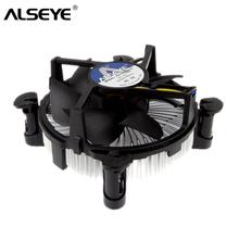 ALSEYE chłodnica procesora 90mm wentylator procesora z Radiator chłodnicy TDP 85W chłodnicy chłodzenia dla LGA 1155 1151 1150 i3 i5 z pasta termiczna tanie tanio 3 Linie AS-GH1156-i5 Aluminium For Intel 23dBA 90x90x25mm 30CFM 2 4 W Fluid Łożyska 3pin 40000 godzin 2200±10 RPM