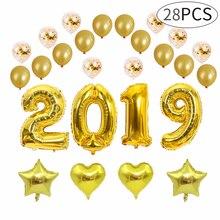 2019 Paper Balloon Balloon Suit,  Confetti Balloon Decoration for New Year Celebration Christmas decoration letter balloon цена