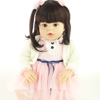 About 70cm Silicone Reborn Baby Dolls Accompany Sleeping Reborn Babies Girl Fashionable Christmas Gift Brinquedos For