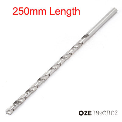 OZE19921102 Silver Tone High Speed Steel 2/4/5/6/7/8/9/10mm x 250mm Length Twist Drill Drilling Bit 1pc wsfs hot sale 4 cut high speed steel teeth toothed corn cutter diameter 6 mm 6 mm length 6 cm