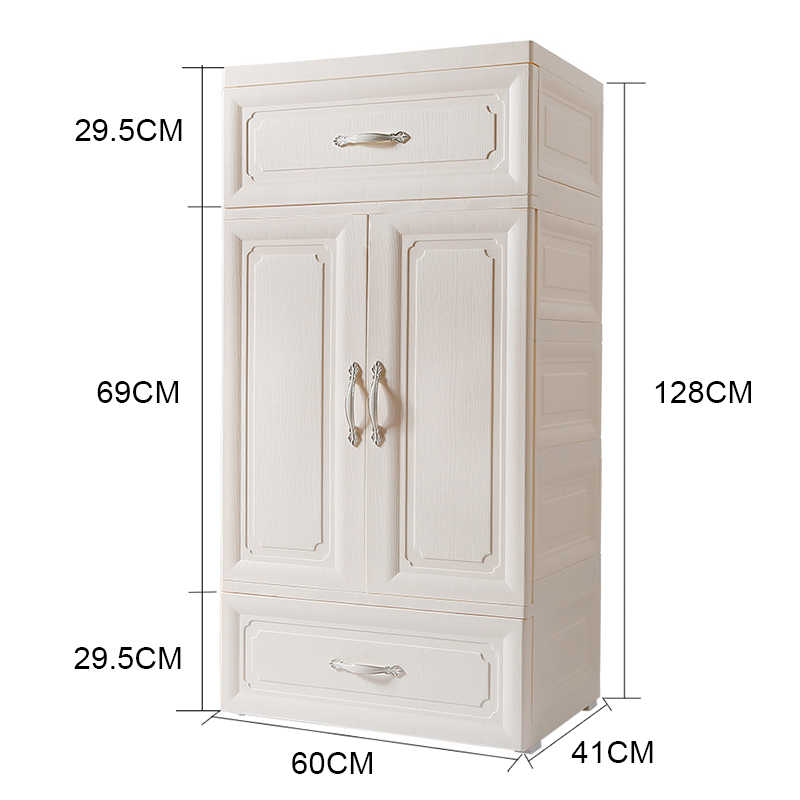 Multi-purpose Plastic Wardrobe Closet Portable Folding Dustproof Waterproof Clothing Storage organizador ropa interior Furniture