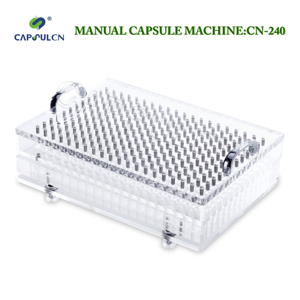 240 holes CN-240 size 5 manual capsule filler/manual capsule filling machine with high precision high quality 187 holes manual capsule filling machine tamping tool size 5