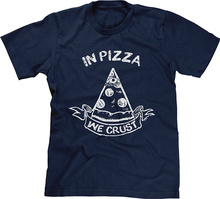 Awesome Shirts Crew Neck Short-Sleeve Graphic In Pizza We Crust Tees For Men