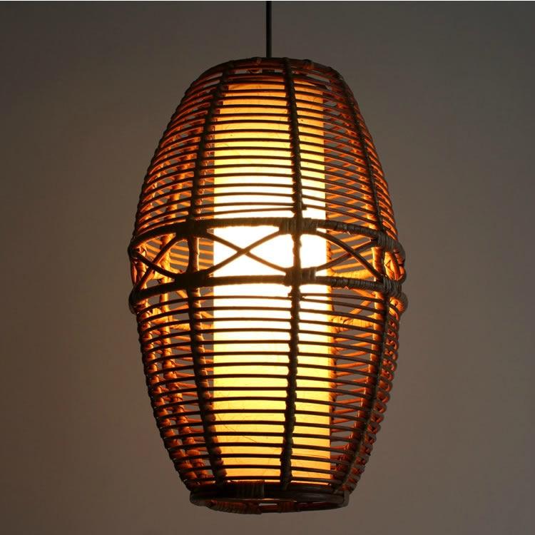 Gewickelt Pendelleuchte Rattan Bambus Handmade Kaffee Westlichen Garten Lampe Wohnzimmer Chand YA72719