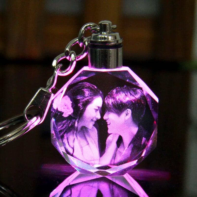 Mini Handgemachte DIY LED hochzeit fotoalbum Licht Kristall Fotos Personalisierte fotoalbum Familie...