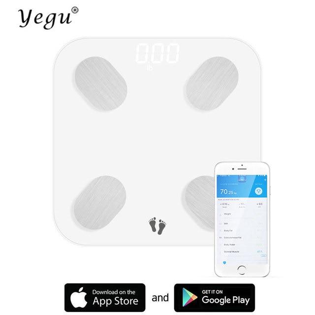 Yegu Bluetooth Scales Floor Body Weight Bathroom Scale Smart Backlit