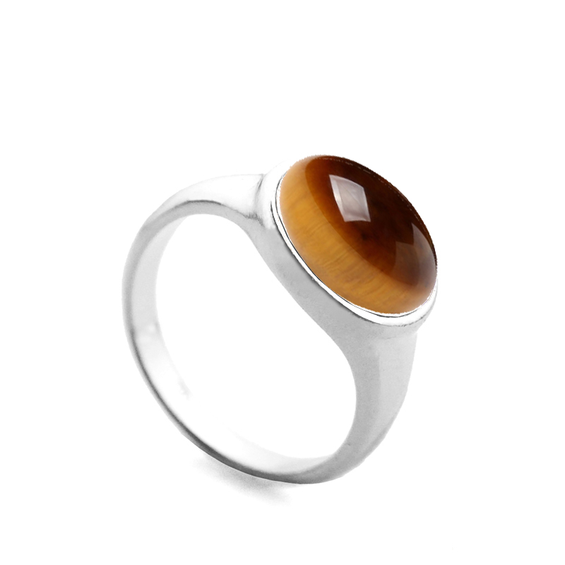10pcslot Natural Quartz Stone Finger Rings Women Tiger Eye Sterling Silver Crystal Wedding Rings Wholesale