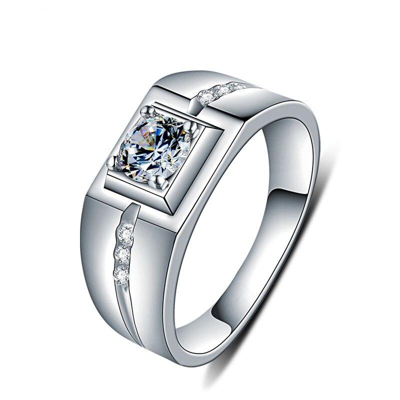 Vintage Platz Hochzeit Ringe 925 Sterling Silber Ringe Zirkon Engagement Ring Edlen Schmuck Geschenke Für Männer Richight-129 Auswahlmaterialien Verlobungsringe