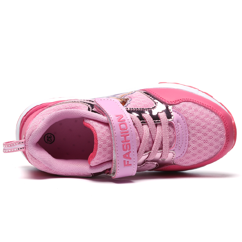 2019 New Brand Mesh Brathable Running Athletic Shoes for Children Summer Outdoor Slip on Boy Girl Sport Shoes Flats Zapatillas