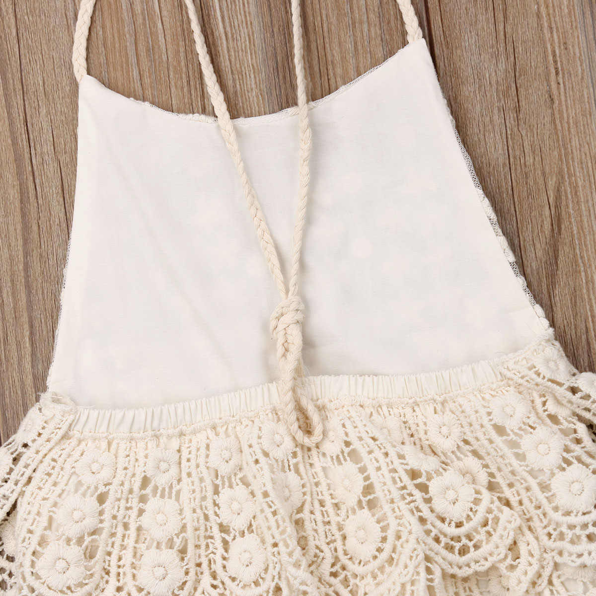 Lovely Newborn Baby Bodysuits Clothes Toddler Baby Girls Princess Summer Lace Floral Jumpsuit Kids Backless Beach Sunsuit