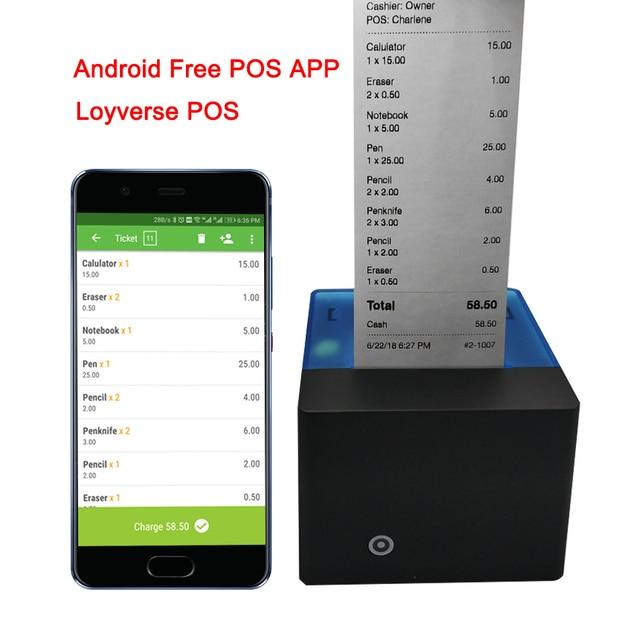Impresora térmica Android Bluetooth 58mm Mini impresora de recibos térmicos Bluetooth Android iOS POS impresora térmica
