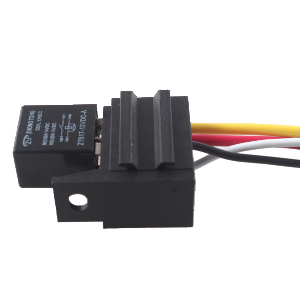 hight resolution of ee support 5 x 12v 20a 30a spst relay for electric fan fuel pump horn car kit 4p 4 wire with socket car styling xy01