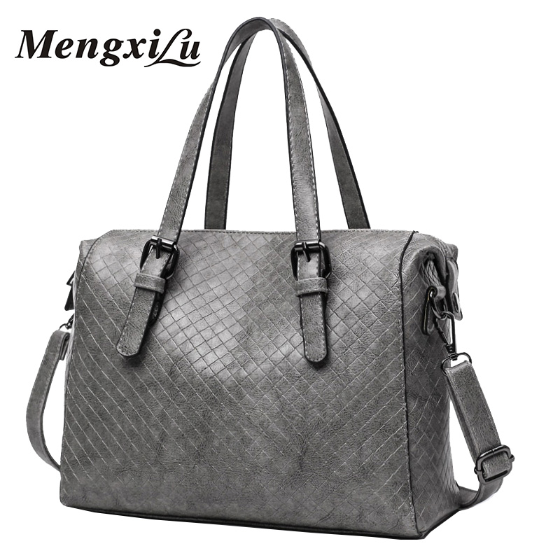 Boston Women Shoulder Bag Simple Pillow Female Crossbody Bag Sac A Main Casual Women Leather Handbags Women Messenger Bags woman in the summer of 2016 youth popular color patent leather crocodile pillow boston crossbody bag business mini pochette