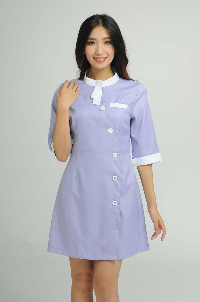 Custom design beauty salon half sleeve nurse uniforms for Spa uniform colors