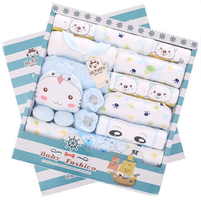 100% Recém-nascidos de Algodão Conjunto Presente Do Bebê Roupas de Outono/Inverno Do Bebê Conjuntos de Roupas meninas Menino & Conjuntos de Roupas de Bebê Meninos 20 piese
