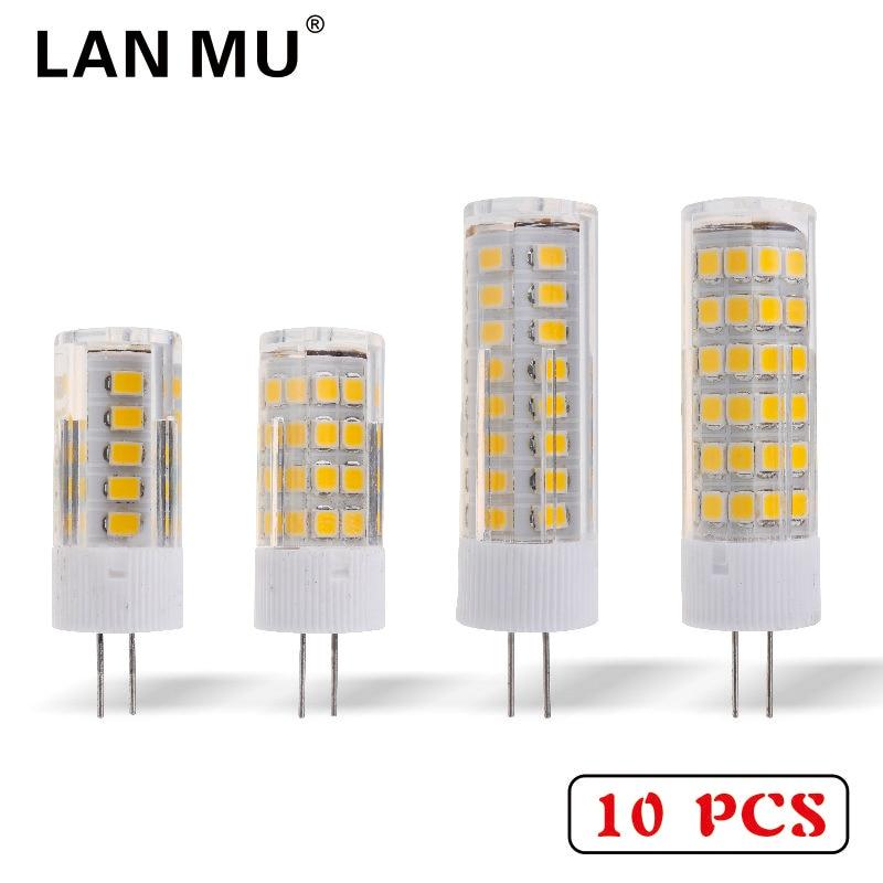 LAN MU 10PCS G4 LED Lamp Bulb 220V 3W 4W 5W 7W 2835SMD High Quality LED Light Bulb replace Halogen G4 for Chandelier
