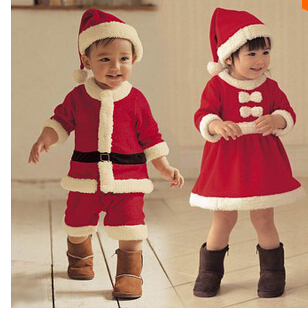 Free Shipping Baby Red Christmas Gift Girl Boy Clothes
