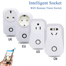 все цены на  New Wifi Smart Socket Smart Home Wireless Remote Control Timer Socket EU/US/UK 10A 2200W Wifi Power Supply Plug онлайн