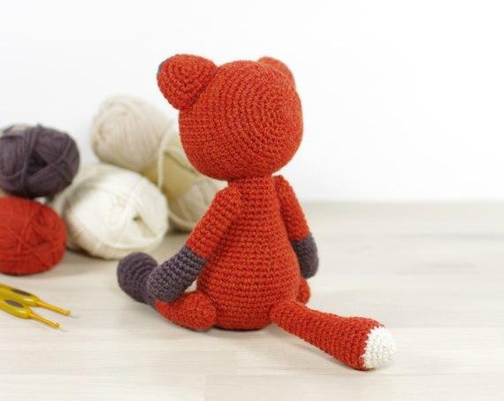 Eserehtanin: The Sleepy Fox - free crochet pattern. Sweet ... | 453x570