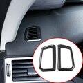 Набор из 2 предметов  Черная Матовая рамка для вентиляционного отверстия для приборной панели из нержавеющей стали  для Land Rover Discovery Sport 2015-17