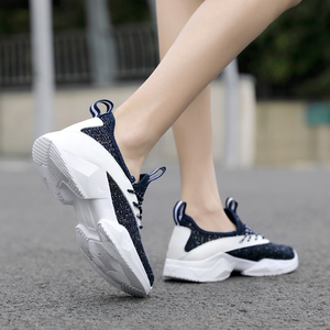 Image 5 - STQ 2020 Autumn Women Flat Lace Up Shoes Women Breathable Casual Sneakers Shoes Ladies Flat Walking Shoes For Women Flats 7728
