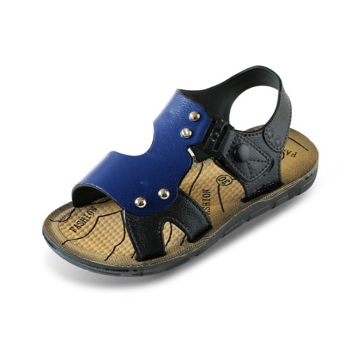 2018 new Korean summer childrens sandals boys baby beach shoes Older child kids sandals  ...