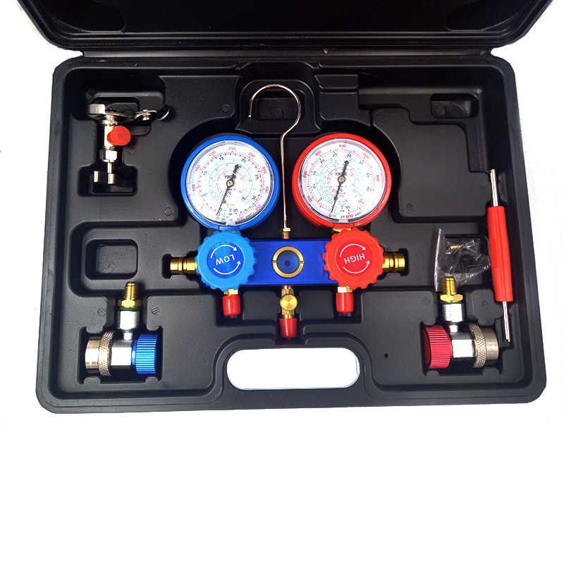 Air Conditioning Tools >> Refrigeration Air Conditioning Manifold Gauge Set Maintenance Tools R134a Car Set With Carrying Case Ac Diagnostic Refrigerant