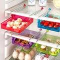 Кухонный Органайзер  Регулируемый Кухонный рефрижератор шкаф для хранения  держатель для полка холодильника с морозильной камерой  выдвиж...