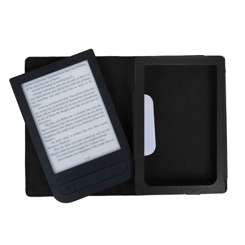 Fashion Case Flip PU Leather Cover Case for 2016 Pocketbook Touch HD 631 6 inch Ereader High Quality case + film + stylus