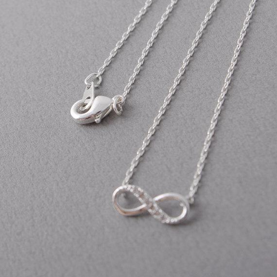 Shuangshuo Tiny Infinity Crystal Privjesak Ogrlice za žene Choker - Modni nakit - Foto 6