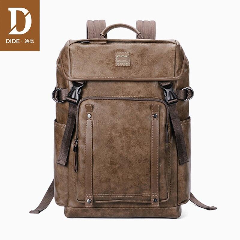 DIDE 2018 ciąg pokrowiec na laptopa plecak mężczyźni wodoodporna mężczyzna Mochila plecak plecak tornister torba mężczyzna plecaki dla nastolatków w Plecaki od Bagaże i torby na  Grupa 1