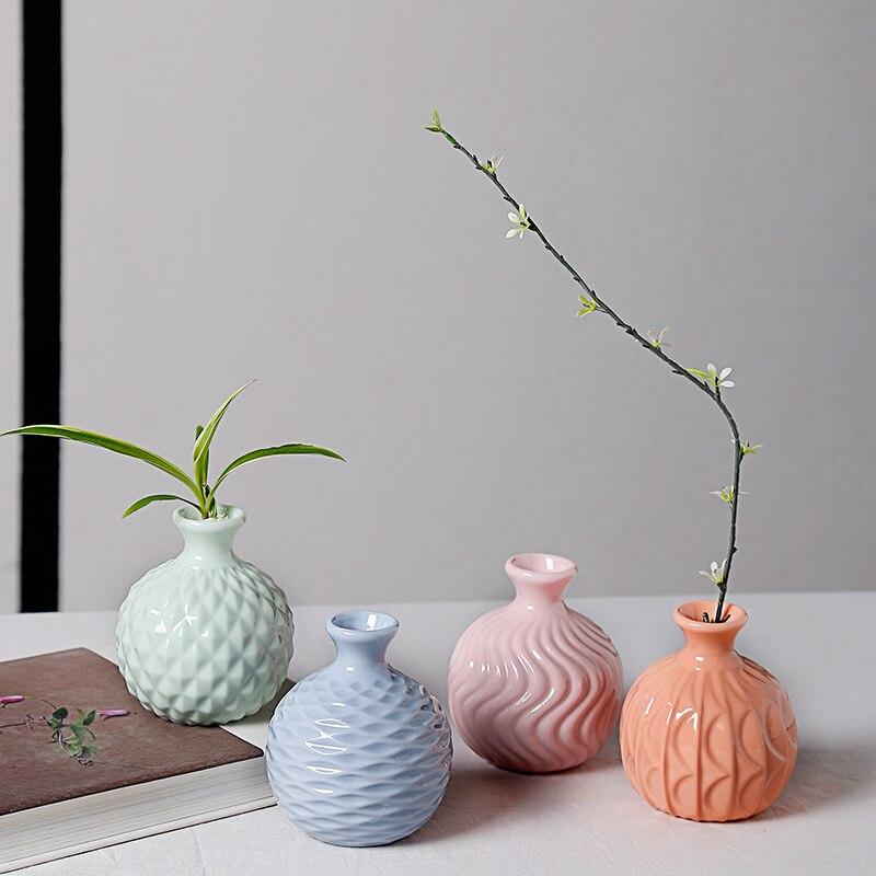 1 db modern Marcaron stílusú kis méretű kerámia váza porcelán - Lakberendezés