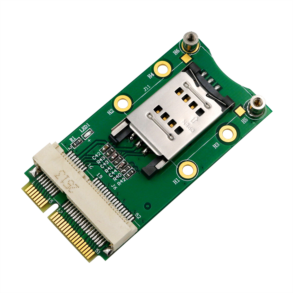 <font><b>Mini</b></font> PCI Express Adapter <font><b>Mini</b></font> PCI-E Riser Card <font><b>MINI</b></font> <font><b>PCIE</b></font> to <font><b>MINI</b></font> PCI E Expansion Card SIM Card Slot for 3G/4G WWAN LTE <font><b>GPS</b></font> Cards image