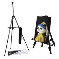 Transon Tripod Aluminum lightweight adjustable field easel 65 inch for Table and Floor with Portable Bag
