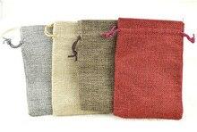 Dhl-freies 17×23 cm/6,6 «x 9,0» 100 stücke Faux jute/Hessischen Gurlap Schmuck geschenk Lebensmittel Promotions Schuhe Verpackung Lagerung Taschen