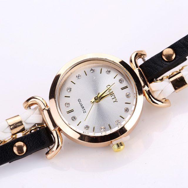 258d3de02872 Online Shop Gaiety Women Watch Quartz Female Clock Leather Crystal ...